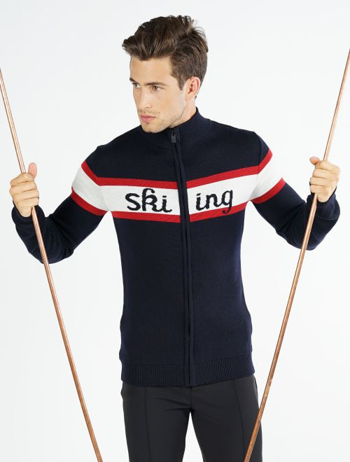 MEN CARDIGAN SKIING