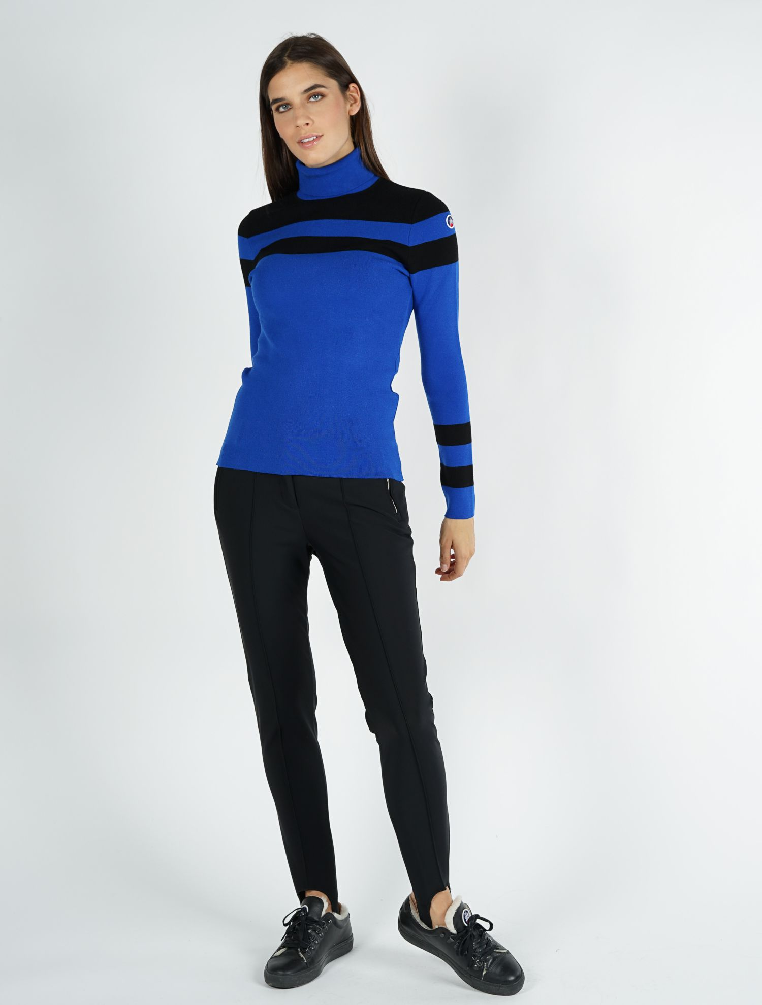 WOMEN KNITTED SWEAT STRIPE