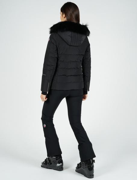 Izia fur women   women ski jacket with satiny effect and fur a4393043d