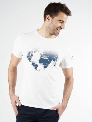 MAP PRINTED T-SHIRT
