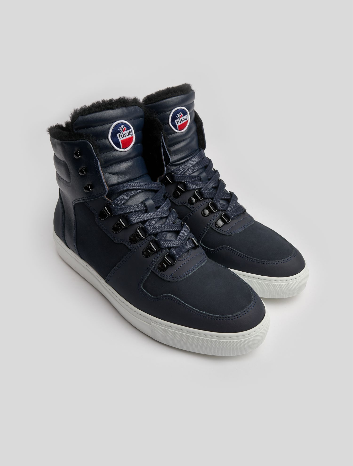 PAUL HIGH-ANKLED FURRED SNEAKERS